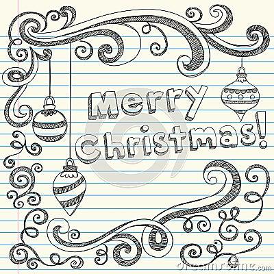 ... Vector Illustration holiday Design Elements on Lined Paper Background