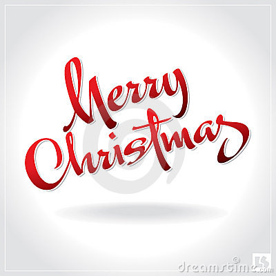 Free Merry Christmas Hand Lettering (vector) Royalty Free Stock Photo - 21448825