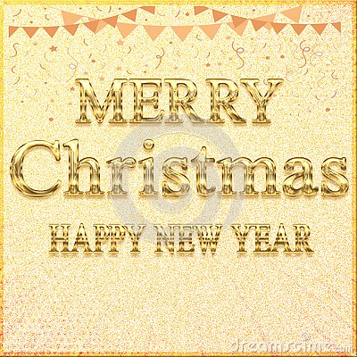 MERRY CHRISTMAS HAPPY NEW YEAR // Beautiful Merry Christmas Banner Transparent Design Stock Photo