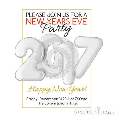 New Year Invitation Template. Red New Year Celebration Invitation