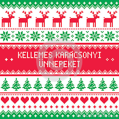 Christmas and new year greetings in hungarianhappy new year goodbye merry christmas in hungarian pattern kellemes karacsonyi unnepeket stock il christmas and new year greetings in hungarian m4hsunfo
