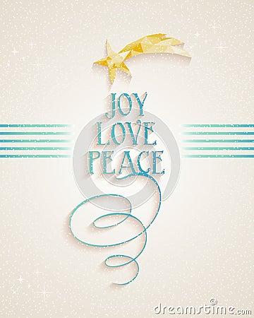 Merry Christmas Joy Love and Peace text card