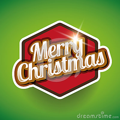 Merry Christmas label Stock Photo