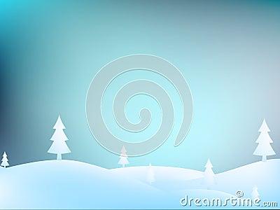 Merry Christmas Landscape. + EPS10