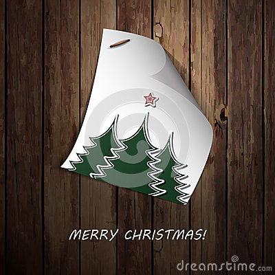 Merry Christmas  - Note Paper Message