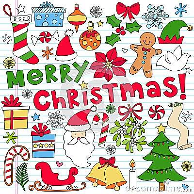 Merry Christmas Notebook Doodles