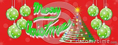 Merry christmas panoramic panorama banner