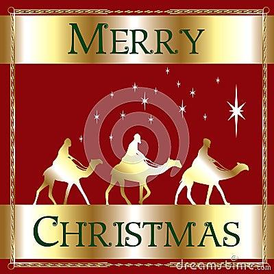 Merry Christmas Red Wisemen