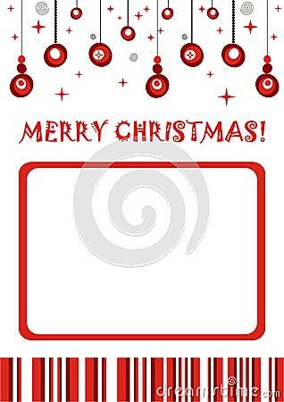 Merry Christmas Retro Photo Frame