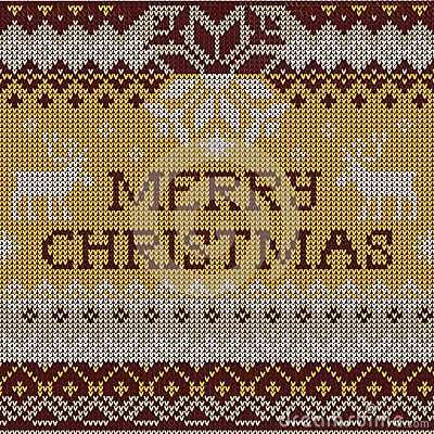 Merry Christmas: Scandinavian style seamless knitted pattern