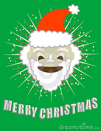Merry Christmas! Smiling Santa!  / clip art