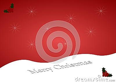 Merry Christmas snow hill