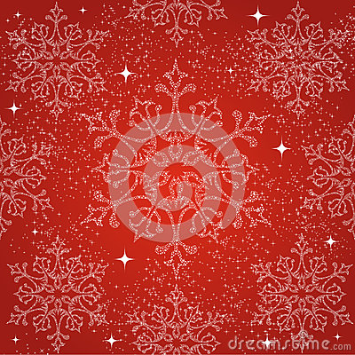 Free Merry Christmas Snowflakes Seamless Pattern Backgr Stock Photo - 34309000