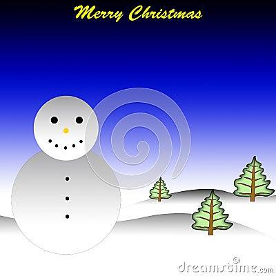 Merry Christmas snowman