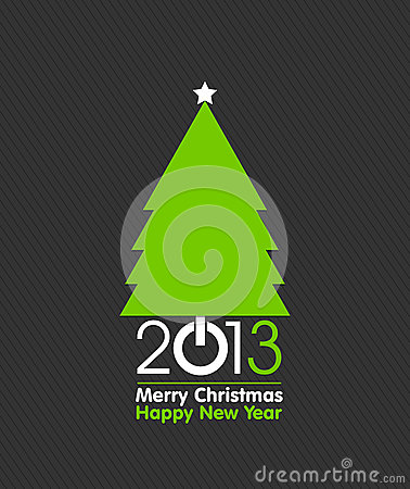 Merry Christmas tree card design