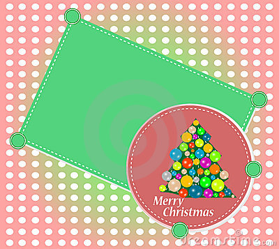 Merry Christmas tree. vector holiday background
