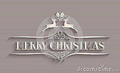 Merry Christmas typographic postcard