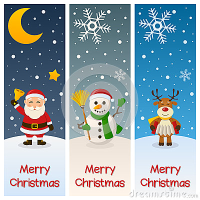Merry Christmas Vertical Banners