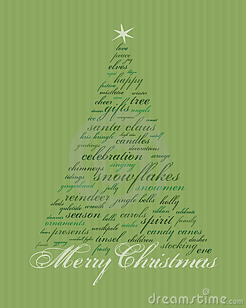 Free Merry Christmas Words Royalty Free Stock Photography - 4349367