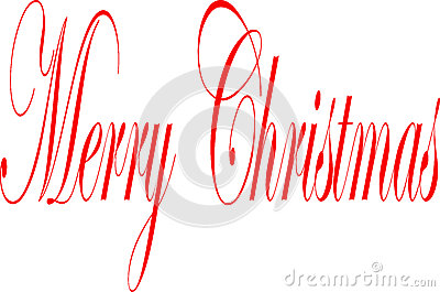 Merry Christmas writen in English