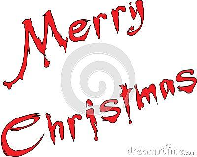 Merry Christmas writen in English