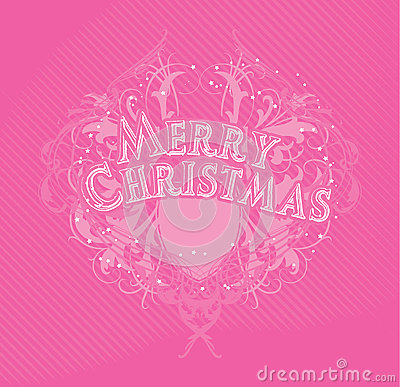 Merry Cristmas pink