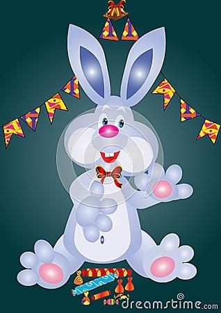 Merry festive rabbit