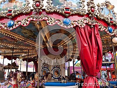 Merry go round carousel horses