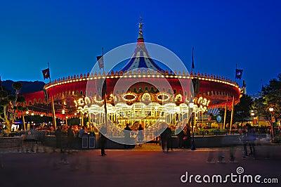 Merry go round at disneyland Editorial Stock Image