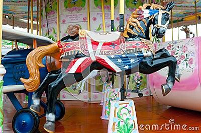 Merry-go-round horse