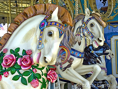 Merry Go Round Horses, Midway Carnival Ride