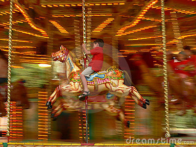 Merry-go-round in London