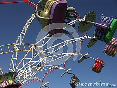 Merry-go-round spinning