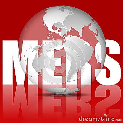 MERS virus illustration
