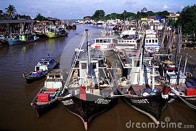 Mersing Fishing Village Editorial Stock Image