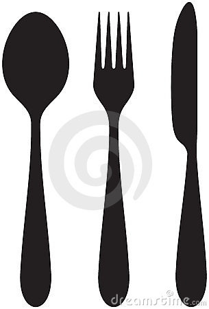 Eten met vork en lepel