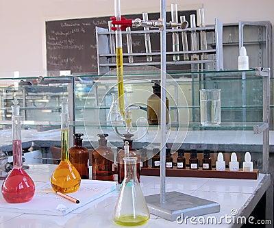 Mesa do laboratório