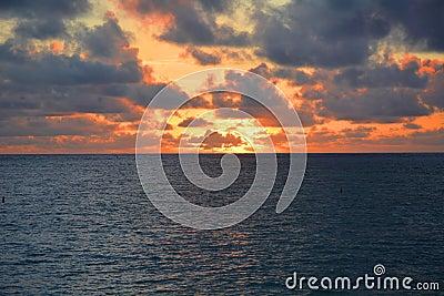 Mesmerizing view of sunrise Stock Photo