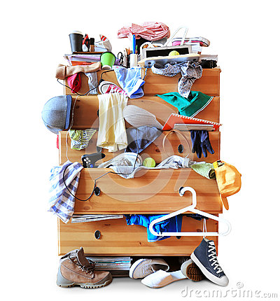 Free Mess, Dresser With Scattered Clother Stock Image - 62923121