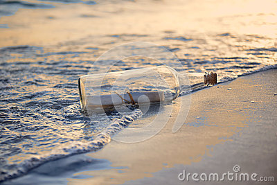 Message in a Bottle st Sunset