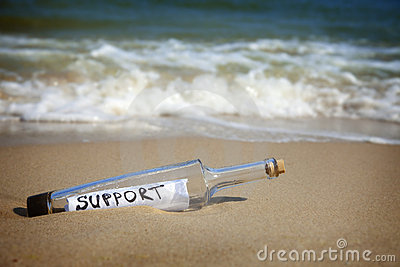 Message in a bottle / Support