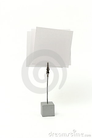 Message holder with a paper