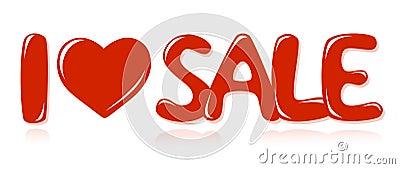 Message I love sale