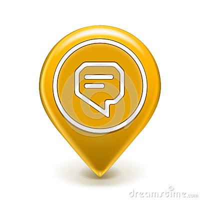 Message Icon Map Pin