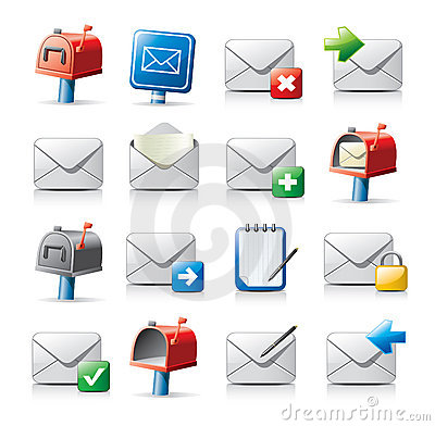 Free Message Icons Royalty Free Stock Image - 9228816