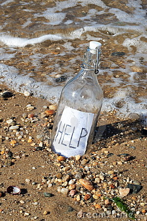 Free Message In A Bottle Royalty Free Stock Photos - 1363378