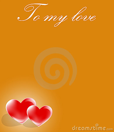 Message of love on card