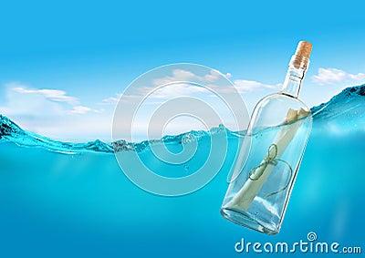 Message in the ocean