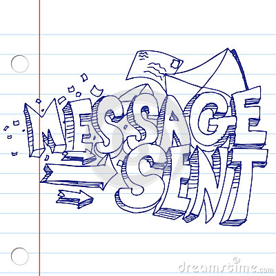 Message Sent Drawing