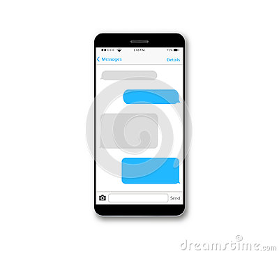 Free Message Text Box Mobile Phone Screen Royalty Free Stock Image - 95758216